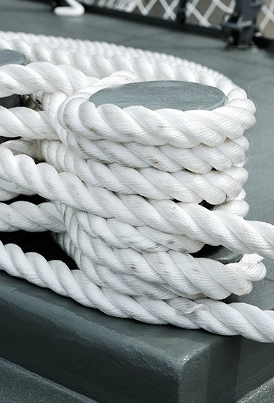 Ship chandler Tied mooring rope