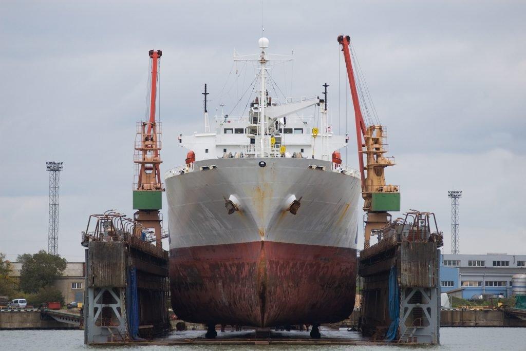 Ship chandler Vessel in a shipyard